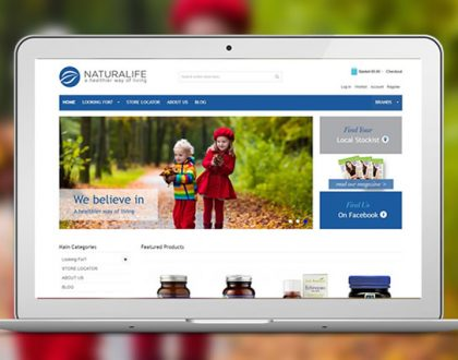 New eCommerce website development for Naturalife Health Ireland